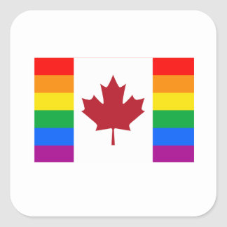 CANADIAN GAY PRIDE FLAG SQUARE STICKER