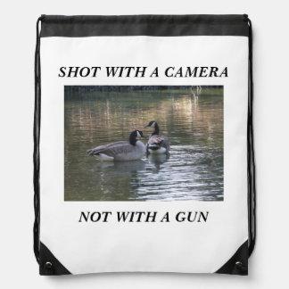 Canadian Geese Drawstring Bag