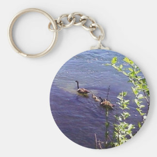 Canadian Geese Family Keychain
