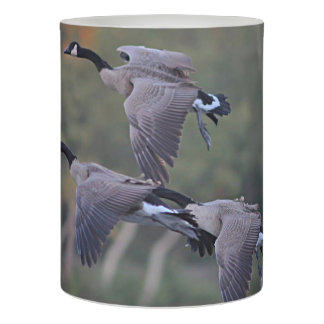 Canadian geese flameless candle