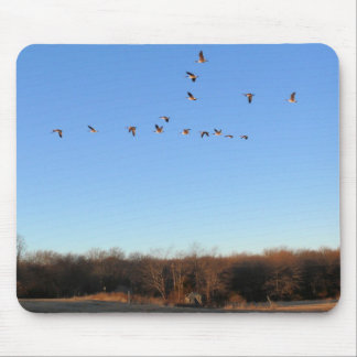 Canadian Geese Flying V Mousepad