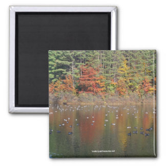 Canadian Geese In Autumn Nature Photo Magnet
