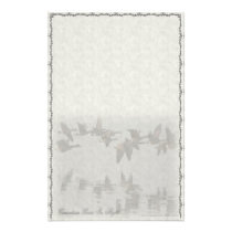 Canadian Geese In Flight Custom Stationery
