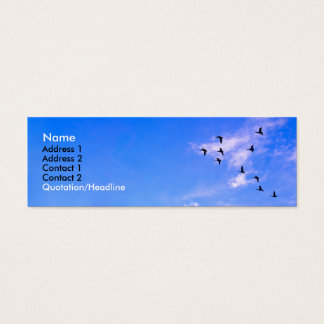 Canadian Geese Mini Business Card