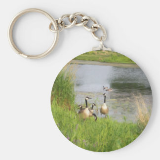 Canadian Geese Painting Keychain