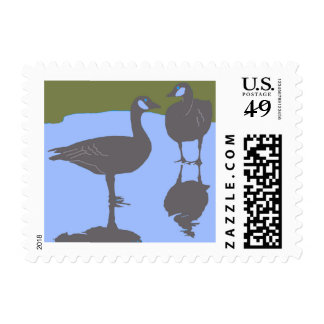 Canadian Geese Postage Stamp