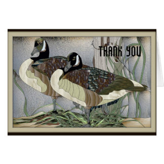 Canadian Geese Thank You Card