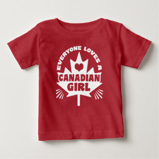 Canadian Girl Baby T-Shirt
