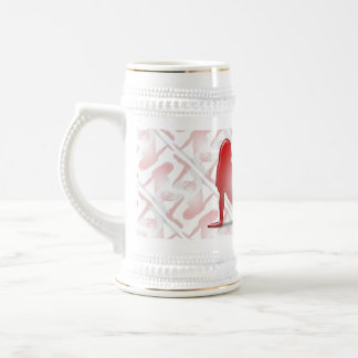 Canadian Girl Silhouette Flag Beer Stein