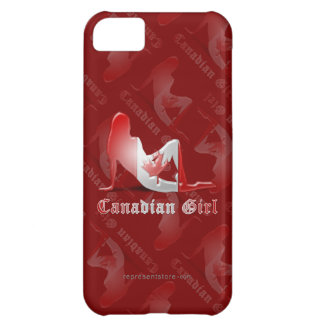 Canadian Girl Silhouette Flag iPhone 5C Cover
