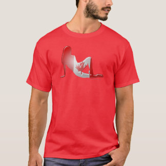 Canadian Girl Silhouette Flag T-Shirt