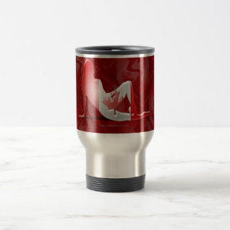 Canadian Girl Silhouette Flag Travel Mug