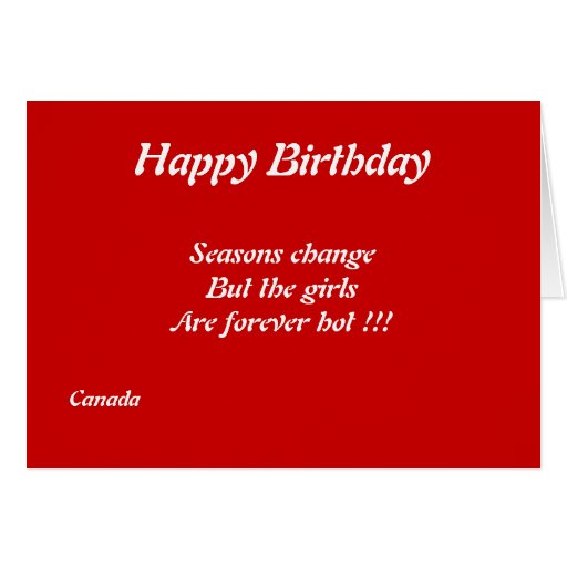 Canadian Girls Birthday Greeting Cards Zazzle