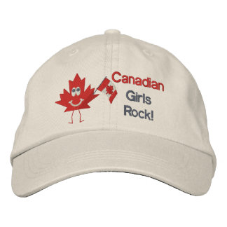 Canadian Girls Rock Embroidered Baseball Cap