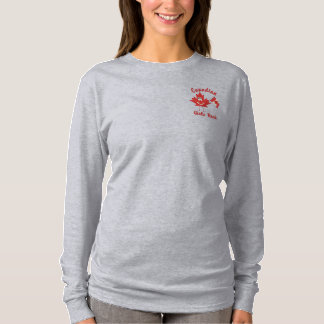 Canadian Girls Rock Embroidered Long Sleeve T-Shirt