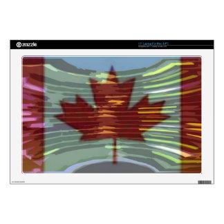 "Canadian Gold MapleLeaf - Success in Diversity 17"" Laptop Skin"