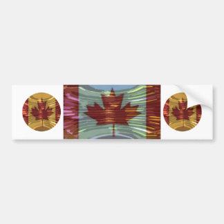 Canadian Gold MapleLeaf - Success in Diversity Bumper Stickers