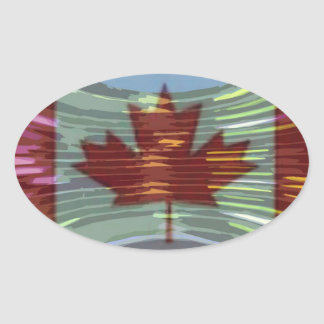 Canadian Gold MapleLeaf - Success in Diversity Oval Sticker
