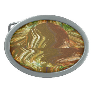 Canadian Gold Mines Oval Belt Buckle