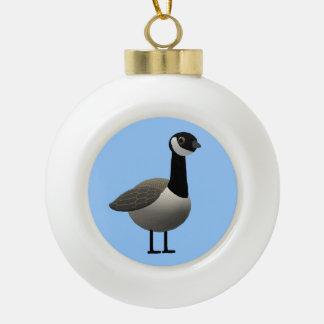 Canadian Goose Ceramic Ball Christmas Ornament