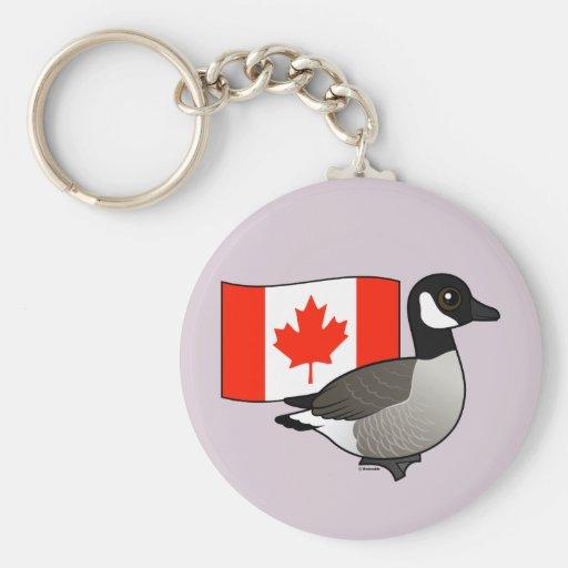 Canadian Goose & Flag Keychains