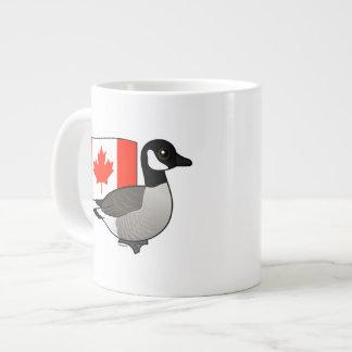 Canadian Goose & Flag Large Coffee Mug