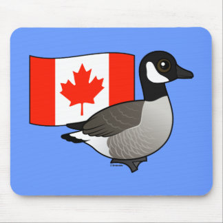 Canadian Goose & Flag Mouse Pad