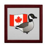 Canadian Goose & Flag Trinket Boxes