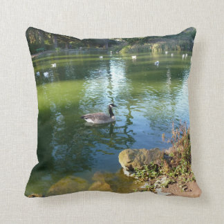 Canadian Goose On Stow Lake Pillow