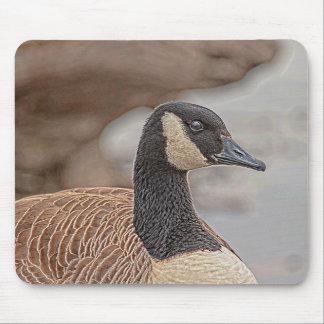 Canadian Goose Portrait Mouse Pad