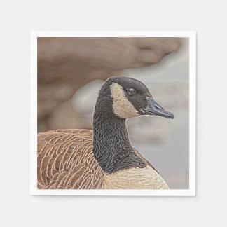 Canadian Goose Portrait Paper Napkin