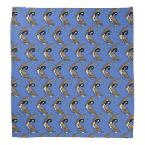 Canadian goose with cattails pattern bandana