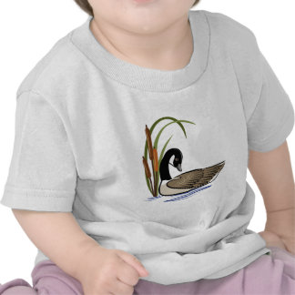 Canadian goose with cattails. shirts