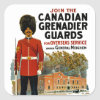 Canadian Grenadier Guards Square Sticker