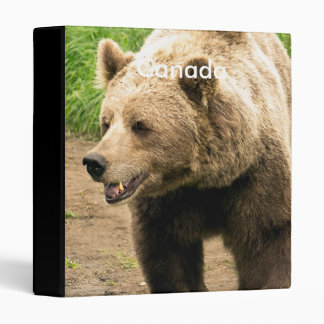 Canadian Grizzly 3 Ring Binder
