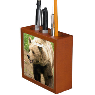 Canadian Grizzly Pencil Holder