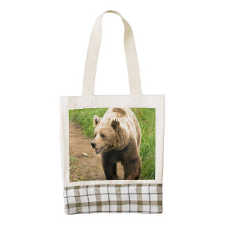 Canadian Grizzly Zazzle HEART Tote Bag