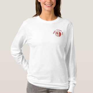 Canadian Happy Face Eh Team Embroidered Long Sleeve T-Shirt