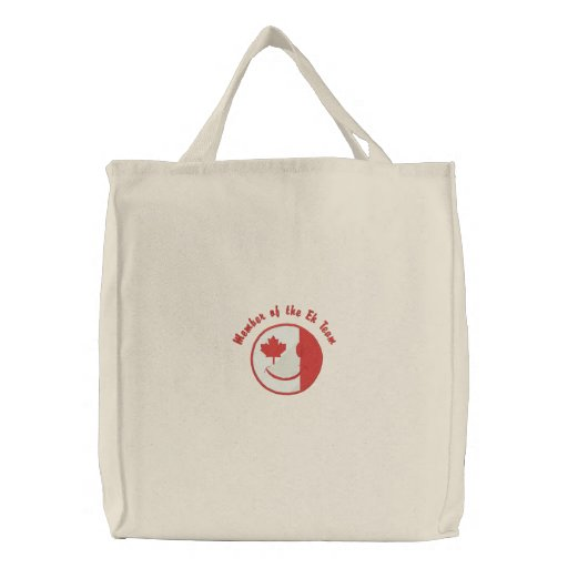 Canadian Happy Face Eh Team Embroidered Tote Bag