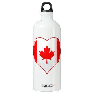 Canadian Heart Charm Aluminum Water Bottle