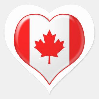 Canadian Heart Charm Heart Sticker
