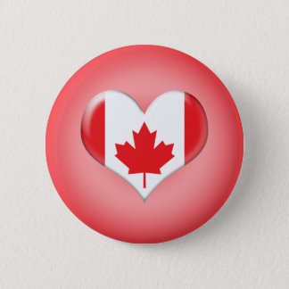 Canadian Heart Pinback Button