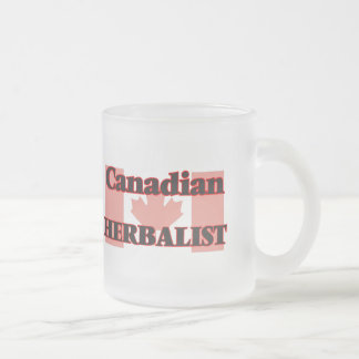 Canadian Herbalist 10 Oz Frosted Glass Coffee Mug