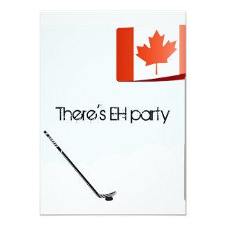 "Canadian Hockey Card 5"" X 7"" Invitation Card"
