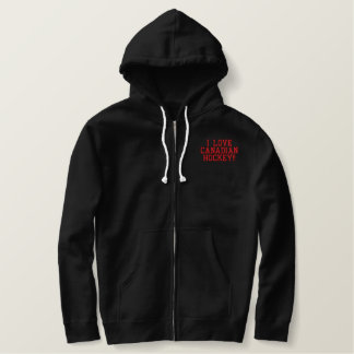Canadian Hockey Embroidered Hoodie