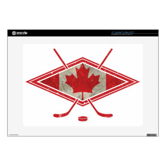 "Canadian Hockey Flag Logo 15"" Laptop Decal"