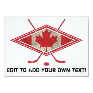 Canadian Hockey Flag Logo Card