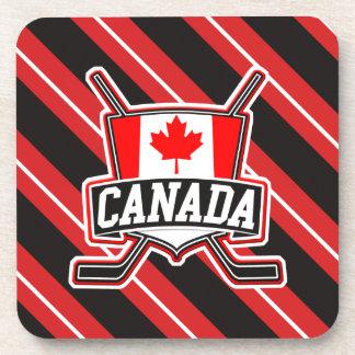 Canadian Hockey Logo Cork Coasters