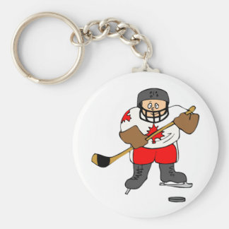 Canadian Hockey Player Key Chains