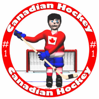 Canadian Hockey Player Statuette